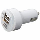 Ładowarka samochodowa USB z logo (2332706)