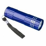 9-diodowa latarka Jewel LED??, niebieski z logo (R35665.04)
