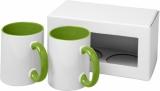 2-częściowy zestaw upominkowy Ceramic składający się z kubków z nadrukiem sublimacyjnym (10062604)