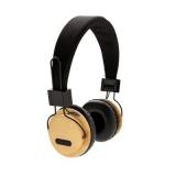 Bambusowe, bezprzewodowe słuchawki nauszne (P329.169)