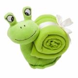 Maskotka Snail, zielony z nadrukiem (R73896)