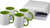 4-częściowy zestaw upominkowy Ceramic składający się z kubków z nadrukiem sublimacyjnym (10062804)