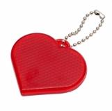 Światełko odblaskowe Heart Reflect, czerwony z logo (R73162.08)