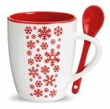 MERANO Kubek ceramiczny z łyżeczką z logo (CX1381-05)