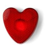 """Klip """"serce"""" z migającym światełkiem (V6463-05)"""