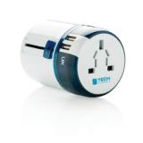 Adapter podróżny Travel Blue z USB (P820.843)