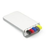 Zestaw piśmienny, ołówek, zakreślacz i długopisy z wkładem w kolorze nakrętki (V1314-02)