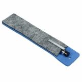 Etui z filcu na długopis, niebieski/szary z logo (R17688.04.A)