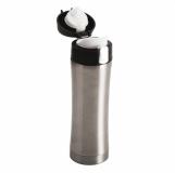 Kubek termiczny Secure 400 ml, srebrny z logo (R08424.01)