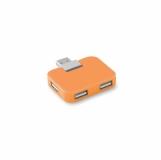 SQUARE Hub USB 4 porty z logo (MO8930-10)