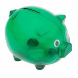 Skarbonka Moneywise, zielony z logo (R73881.05)