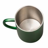 Kubek stalowy Stalwart 240 ml, zielony z logo (R08490.05)