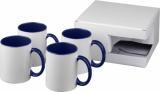 4-częściowy zestaw upominkowy Ceramic składający się z kubków z nadrukiem sublimacyjnym (10062802)