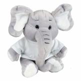 Maskotka Elephant, szary z nadrukiem (R73947)