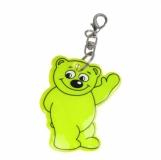 Brelok odblaskowy Beary, żółty z logo (R73245P.05)