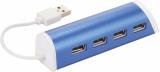 Avenue Aluminiowy 4-portowy hub USB/podstawka na telefon (12372402)
