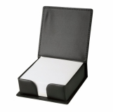 Podstawka na karteczki Box, czarny z nadrukiem (R22820)