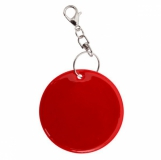 Brelok odblaskowy Reflect, czerwony z logo (R73251P.08)