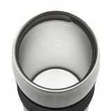 Kubek izotermiczny Harbin 350 ml, czarny z logo (R08285.02)