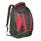 Plecak sportowy El Paso, czerwony/czarny z nadrukiem (R08659.08)