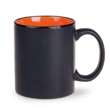 Kubek TOMEK SUPREME 300 ml czarny mat / pomarańczowy (M102_LD_E0300_0)