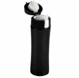 Kubek termiczny Secure 400 ml, czarny z logo (R08424.02)