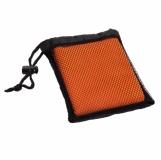 Ręcznik sportowy Frisky, pomarańczowy z logo (R07980.15)