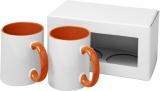 2-częściowy zestaw upominkowy Ceramic składający się z kubków z nadrukiem sublimacyjnym (10062606)