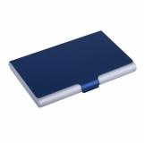 Wizytownik Color Lid, niebieski/srebrny z logo (R01057.04)