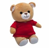 Maskotka Dressed Teddy, brązowy z logo (R73942.10)