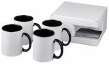 4-częściowy zestaw upominkowy Ceramic składający się z kubków z nadrukiem sublimacyjnym (10062801)