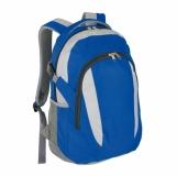 Plecak sportowy Visalis, niebieski z nadrukiem (R08637.04)