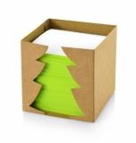Karteczki w świątecznym pudełku naturalny (08059)