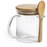 Kubek 420 ml z łyżeczką i pokrywką (V0878-16)