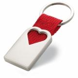 BONHEUR Metalowy brelok, serce z logo (MO7155-05)
