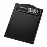Podkładka z kalkulatorem Meetingmate, czarny z nadrukiem (R64211)