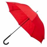 Parasol automatyczny Fribourg, czerwony z logo (R07920.08)