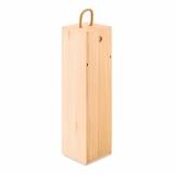 VINBOX Drewniane pudełko na wino z logo (MO9413-40)