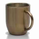 Kubek stalowy Dusk 380 ml, złoty z logo (R08342.79)