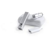 Zestaw podróżny, power bank 2200 mAh, ładowarka USB, ładowarka samochodowa USB, młotek bezpieczeństwa, kabel do ładowania (V3901-32)