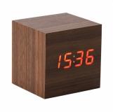 Zegar biurkowy On time, brązowy z logo (R22119.10)