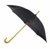 Parasol automatyczny Martigny, czarny z logo (R07936.02)