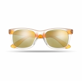 AMERICA TOUCH Lustrzane okulary przeciwsłoneczne z logo (MO8652-10)