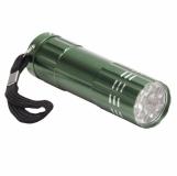 9-diodowa latarka Jewel LED, zielony z logo (R35665.05)