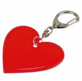 Brelok odblaskowy Affection, czerwony z logo (R73249.08)