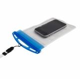 Pokrowiec na telefon Crystal, transparentny/niebieski z nadrukiem (R64327)
