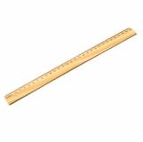 Linijka 30 cm, brązowy z logo (R64333)