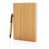 Bambusowy notatnik A5 z bambusowym długopisem (P772.159)