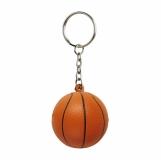 Brelok antystresowy Basket, pomarańczowy/czarny z nadrukiem (R73919)