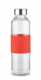 Butelka szklana GLASSI 520 ml czerwony (16207-04)